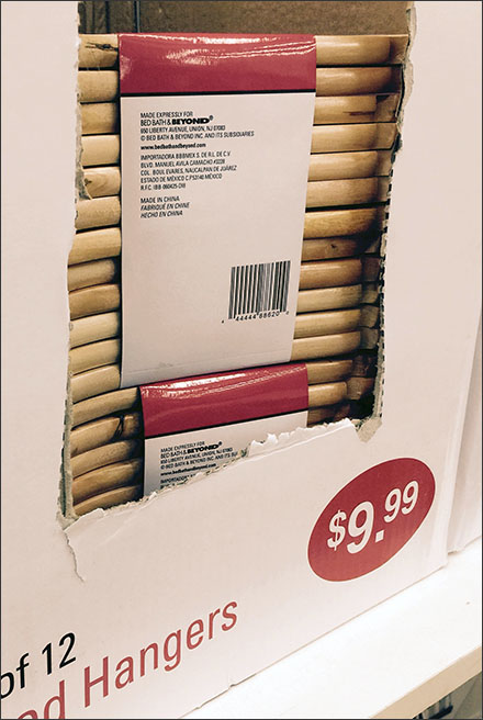 Clothes Hangers Merchandised By Corrugated Carton