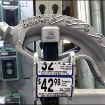 Conduit Bender Double-Arm Utility Hook for Pallet Rack