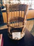 Custom Baguette Basket in Woven Wicker