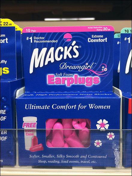 DreamGirl® Earplug Color-Coding at Shelf-Edge