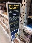 Good Neighbor Hinged Pallet Rack Sign 1