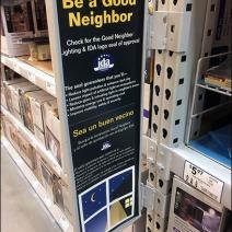 Good Neighbor Hinged Pallet Rack Sign 1