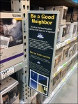 Good Neighbor Hinged Pallet Rack Sign 3