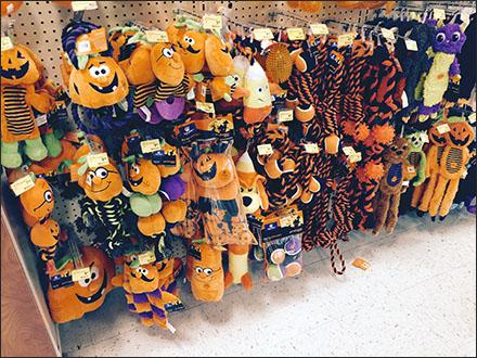 Halloween Pet Toys Merchandised by Peg Hook