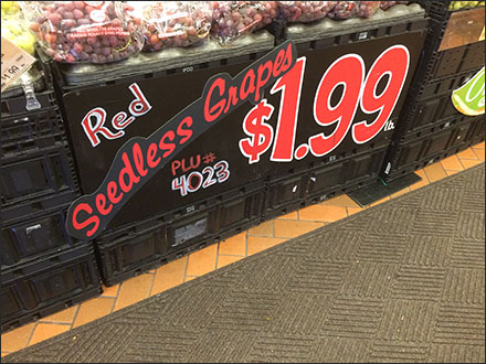 Hand-Painted Magnetic Signs in Grocery
