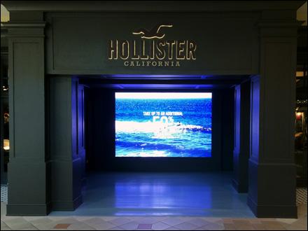 Hollister Wide Screen Digital Store Entry