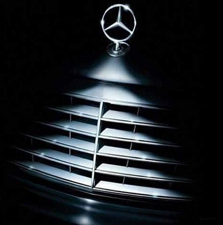 Mercedes benz as christmas ornament fixtures close up for Mercedes benz christmas ornament