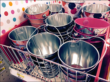 Open Wire Fenced Trick-Or-Treat Pails