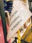 Warning Retail Topstocking in Progress