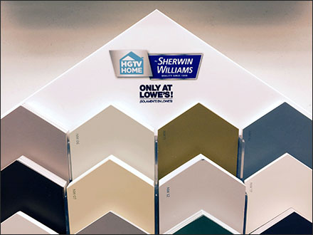 Sherwin Williams Branded Paint Sample Shingles Fixtures