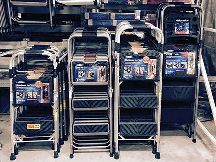 Werner® Size-Assistive Step-Stool Merchandising