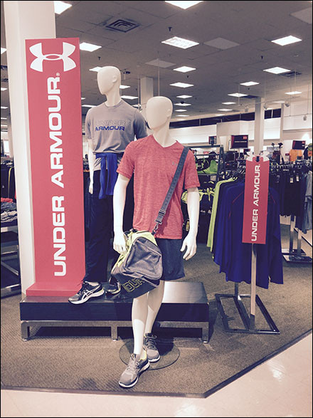 Under Armour® Color-Coordinated Vertical Signs