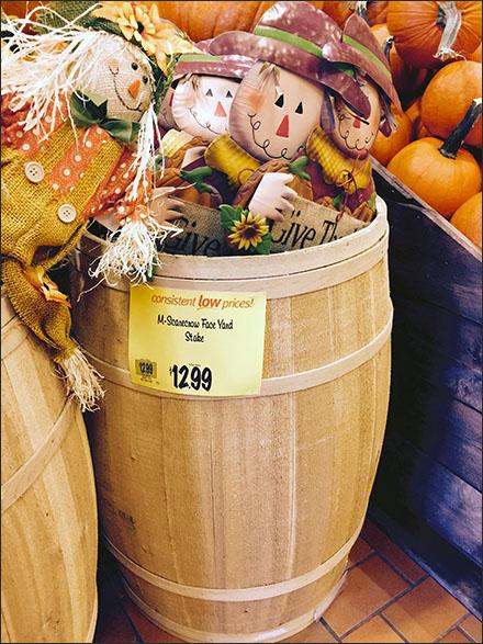Halloween Yard Scarecrow Huddle in Bulk Barrel