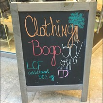 Clothing BOGO Moves Outside The Store