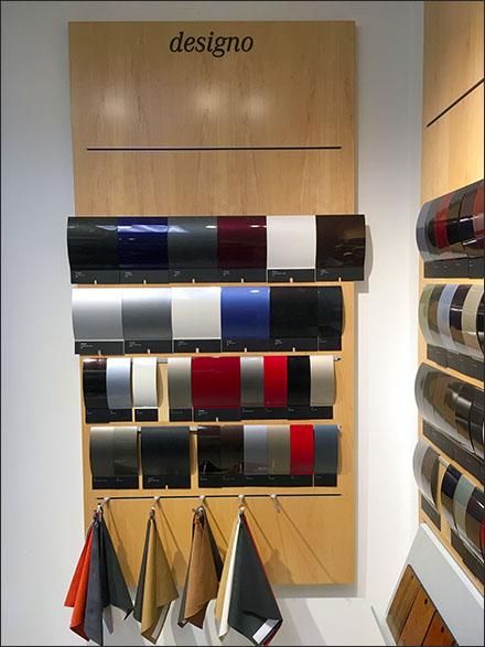 Mercedes® Designo Color Swatch Display