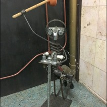 Restroom Toilet Plunger Art and Outfitting