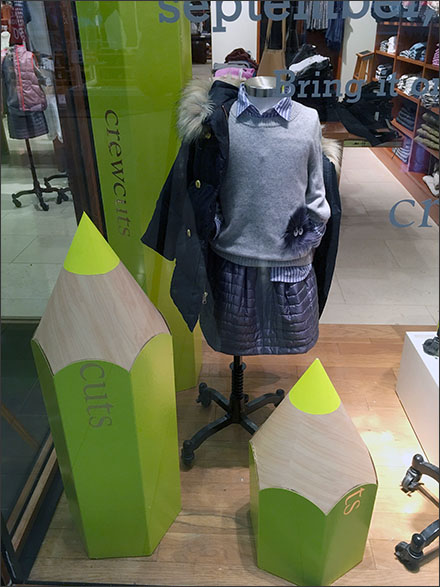 School Pencil Propping in Retail