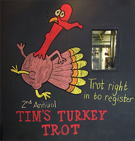 Turkey Trot Thanksgiving Chalkboard