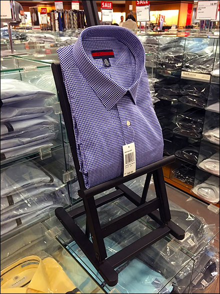 Dress Shirt Easel Retail Display 2