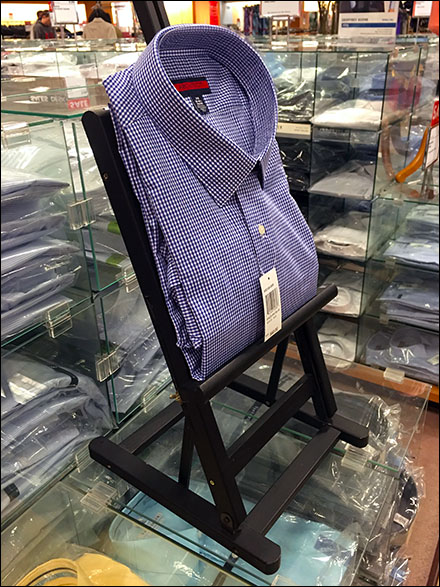 Dress Shirts Displayed by Easel