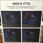 Levis Sizes and Styles on S-Hooks