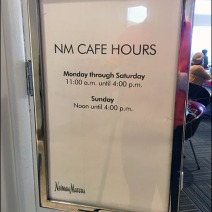 Neiman Marcus Cafe Hours