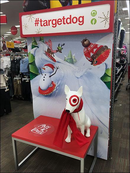 Target Bullseye Mascot Pose & Post Aux