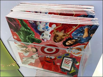 Target In-Store Christmas Catalog Literature Pocket Main