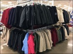 Warehouse Winter Coat Bulk Merchandising Aux