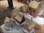 Anthropologie Christmas Village on Pedestals Aux
