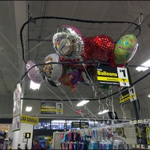 Balloon Merchanding Ceiling Corral 1