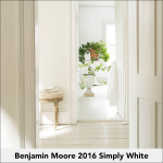Benjamin Moore Color of Year 2016 Simply White