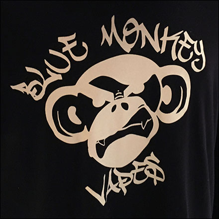 Blue Monkey Vape Bar Branding CloseUp 2
