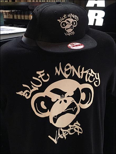 Blue Monkey Vape Bar T-Shirt and Cap