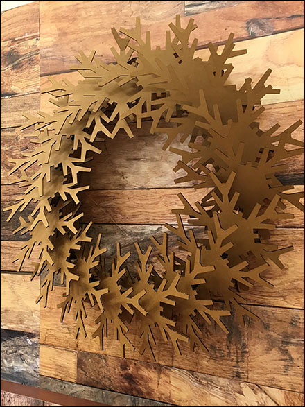 Corrugated Christmas Wreath 1