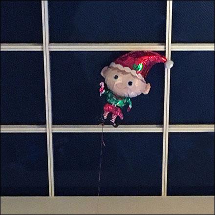Inflatable Elf Escapes Santa Main