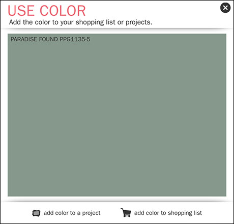 PPG 2016 Color of the Year Paradise Green CloseUp