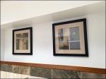 Restroom Art Gallery Hung High Closeup
