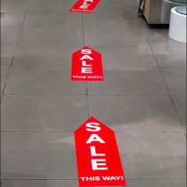Sale This Way Floor Graphic Trail 2