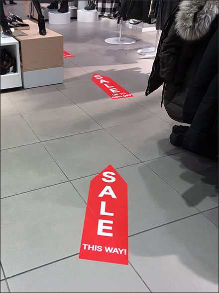 Sale This Way Floor Graphic Trail Main