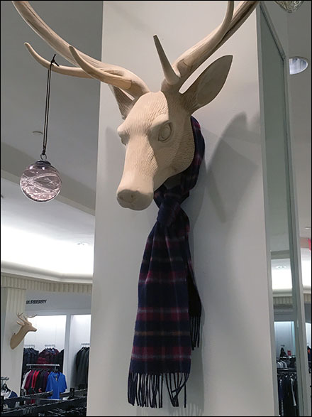 Scarf Tie on a Stag CloseUp