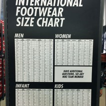 Nike International Shoe Size In-Store Chart 2