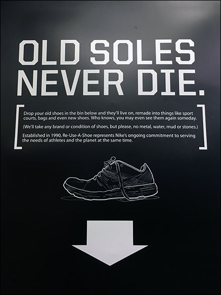 Nike Shoe Recycling Closeup