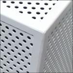 Perforated Platform Merchandising Corner Detail Closeup