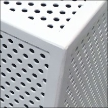Perforated Platform Merchandising Corner Detail Closeup
