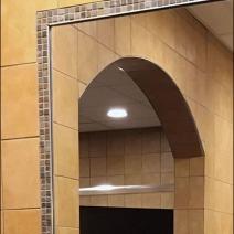 Restroom Full Length Tiled Mirror 1