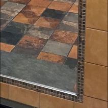 Restroom Full Length Tiled Mirror 3