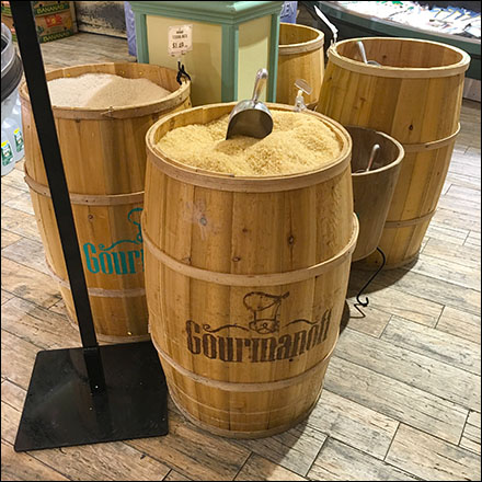 Gourmanoff Produce Branded Barrel Bulk Bins Main
