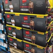 Hanes Best Underwear Pallet Merchandsing 2