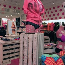 Wood Slate Crate Pedestal at Victorias Secret 1